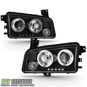 2006 2007 2008 2009 2010 Dodge Charger Led Halo Projector Headlights Headlamps