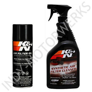 K N Air Filter Large Size Service Kit Cleaner And Oil