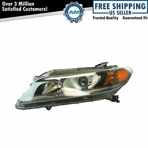 Halogen Headlight Lamp Assembly Lh Driver Side For Honda Accord Coupe 2 4l New
