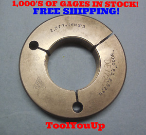 2 573 16 Ns 3 Thread Ring Gage No Go Only P d 2 5234 Tool Tooling Inspection