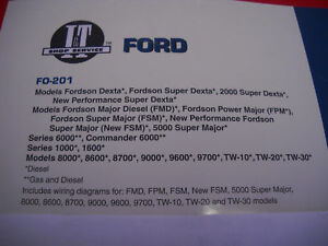 Ford Tractor I t Shop Service Manual Dexta Major 8000 8600 9700 Tw10 Tw30 Fo201