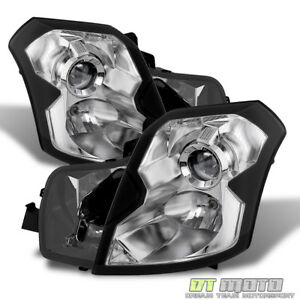 Chrome Housing 2003 2007 Cadillac Cts Ct S Headlights Headlamps 03 07 Left Right