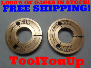 1 430 48 Ns 2 Thread Ring Gages Go No Go P d s 1 4165 1 4121 Tool Tooling