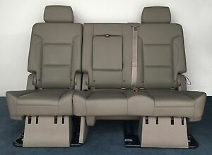 2016 2015 Suburban 2nd Row Bench Seat In Cocoa Dark Atmosphere Leather