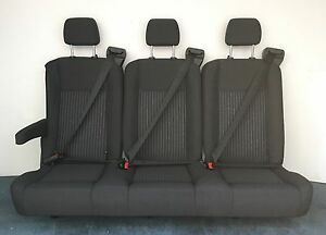 2015 Ford Transit Van 3 Person Bench Seat In Black Cloth From 12 Passenger Van