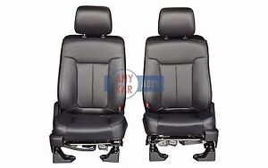 2014 2013 2012 Ford F150 Full Power Front Row Bucket Seats In Black Leather