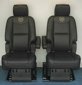 2014 2013 2012 Escalade Esv Platinum 2nd Row Bucket Seats Ebony Black Leather