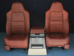 2010 2009 2008 F250 F350 King Ranch Front Seats Console New Condition