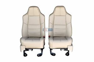 2010 2009 2008 Ford F250 F350 Front Seats In Camel Tan Leather