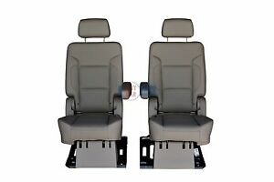 2016 2015 Chevy Suburban 2nd Row Bucket Seats In Cocoa Dune Leather