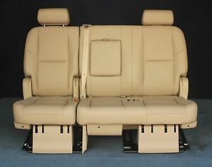 2010 2009 Escalade Esv Yukon Xl Denali 2nd Row Bench Seat Tan Leather