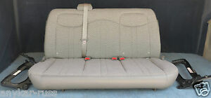2004 2007 Chevy Express Van 2nd Row Bench 3 Passenger Seat In Gray Cloth