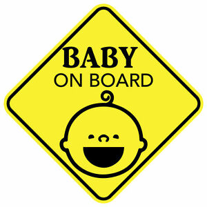 Baby On Board Smile Sticker Decal Child Car Sign Made In Usa Buy 2 Get 3rd Free