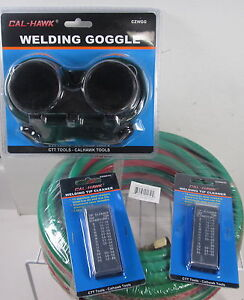 Valley 1 4 X 25 Welding Hose W Cutting Goggles 2 Welding Tip Cleaners