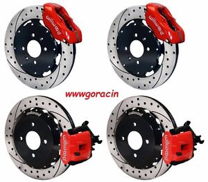 Wilwood Disc Brake Kit Honda Crx Civic Del Sol W O Abs 12 19 Drilled Rotors Red