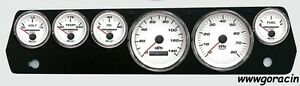 New Vintage Usa 67 70 Mopar A Body Performance Series White Gauge Set barracuda