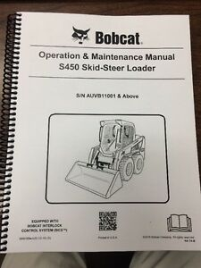 Bobcat S450 Operation Maintenance Manual Book Skid Steer S n Auvb11001 6990389