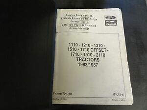 Ford New Holland 1110 1210 1310 1510 1710 1910 2110 Tractors Parts Catalog