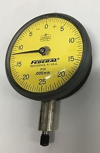 Mahr Federal P3i Group 2 Dial Indicator 0 1 25mm Range 0 005mm Graduation