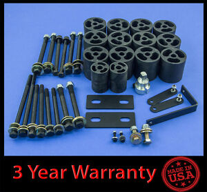 92 97 Ford F150 F250 F350 2wd 4wd 3 Full Body Lift Kit Front Rear