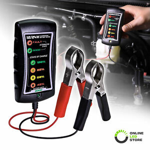 Ols 12 24v Dc Battery Alternator Tester Check With Large Clamps And Led Display