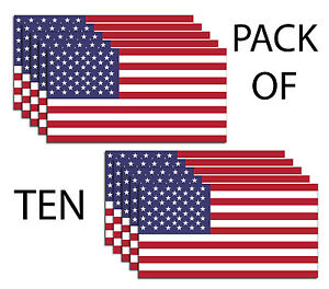 American Flag Usa Pack Of 10 Decal Sticker 3m Military Marines Army Buy2get1free