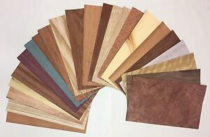 Domestic Exotic Mixed Wood Veneer Variety Pack 10 Sq Ft Raw unbacked