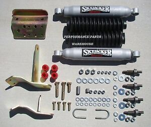 Dual Front Steering Stabilizer Shock Kit 03 08 Dodge Ram 2500 3500 4x4 W Lift