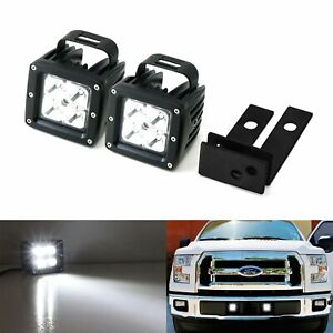 40w Cree Led Pods W Lower Bumper Mounting Bracket Wirings For 15 Up Ford F150