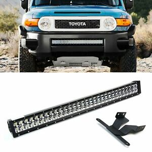 180w 30 Led Light Bar W Lower Bumper Bracket Wirings For Toyota Fj Cruiser