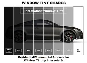 Intersolar 2ply 22 x200ft Window Film Roll Choose The Tint 5 15 20 35 50