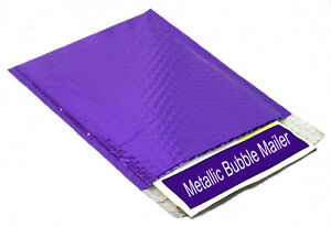 50 New Metallic Purple Bubble Mailers 16x17 5 Padded Mailing Shipping Envelopes