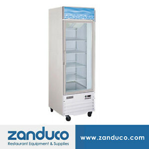 Zanduco 14 Cu Ft 26 1 door Refrigerated Glass Cooler Commercial Refrigerator