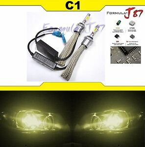 Led Kit C1 60w 880 3000k Yellow Two Bulbs Fog Light Replacement Upgrade Lamp Oe