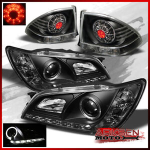 Fits 01 05 Is300 Altezza Halo Drl Led Projector Headlights blk Led Tail Lights