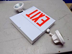 Mule Led Combination Exit Sign 2 face 2 head 120 277v Metal Epx 1 2c 2 wwr