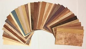 Wood Veneer Domestic Exotic Veneer Variety Pack 20 Sq Ft Unbacked
