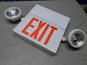 Mule Led Combination Exit Sign 2face 2head 120 277v Metal Epx 1 2c 2 wwr