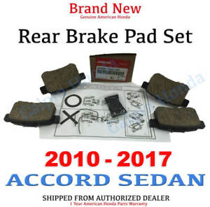 2010 2017 Honda Accord Sedan Genuine Factory Rear Brake Pad Set 43022 Ta0 A81
