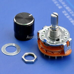 2 Pole 6 Way Mbb Rotary Switches With Knobs 50pcs