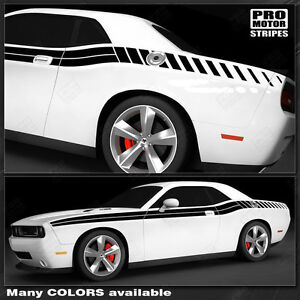 Dodge Challenger 2008 2019 Double Stripes With Strobe Side Decals Choose Color