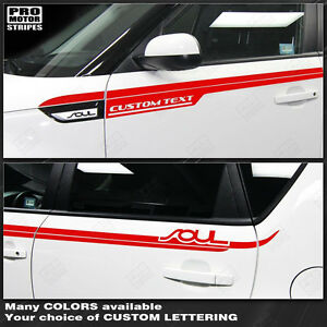 For Kia Soul 2008 2019 Side Upper Accent Sport Stripes Decals choose Color