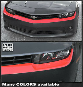 Chevrolet Camaro 2014 2015 Front Fascia Blackout highlight Stripe choose Color