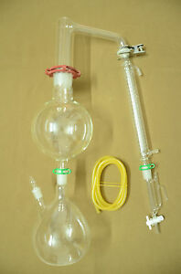 Essential Oil Steam Distillation Kit graham Condenser come With All The Clamps