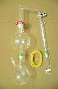 Essential Oil Steam Distillation Kit allihn Condenser come With All The Clamps