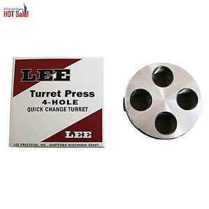 Lee Precision 4 Hole Turret (Silver) Free Fast Shipping NEW Durbale design LAST