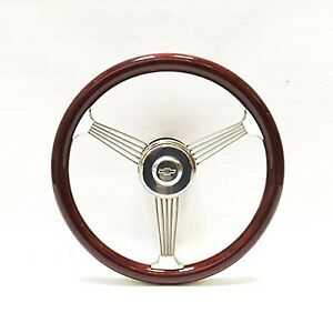 15 Mahogany Banjo Steering Wheel For 1948 1959 Chevy Pick Up Truck Full Kit