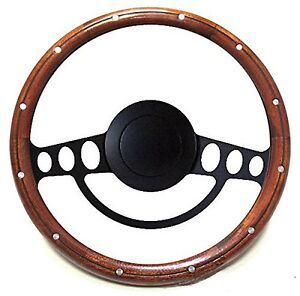 New Hot Rod Street Rod Rat Rod W Ididit Gm Column Mahogany Steering Wheel Kit