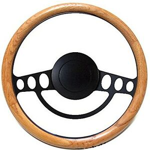 New Hot Rod Street Rod Rat Rod W ididit Gm Column Real Oak Steering Wheel Kit