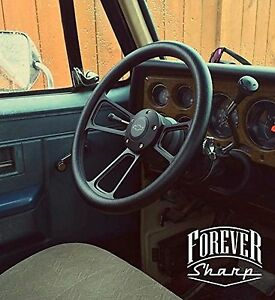 14 Billet Black Muscle Chevy 69 94 Gm Steering Wheel W Chevy Engraved Horn Set